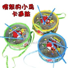 Children's drumming with hanging on the rope Transparent double-sided drum toys classic  toy(China (Mainland))