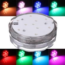 10 LED Colorful Waterproof Submersible Party Light Swimming Pool Hot Tub Spa Lamp With Remote Control(China (Mainland))