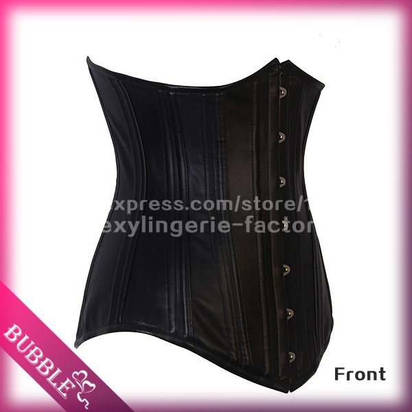 Steel Boned Corset Underbust Waist Training Corsets Bustiers Plus Size XS 6XL Black White espartilho Corpete Corselet - Bubble Sexy Costume store