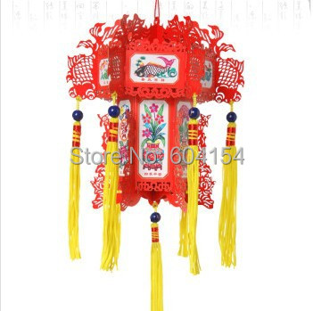 Paper lanterns folk arts and crafts car accessorie red surplus year after year lantern,Furnishing decoration, interior products(China (Mainland))