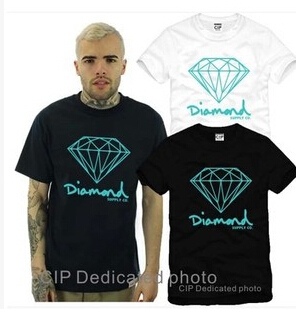 Diamond Tshirts Hip Hop Fashion Tee Shirts Men Women Diamond Supply Co T Shirts Plus Size S-3XL Short Sleeve Hip Hop(China (Mainland))