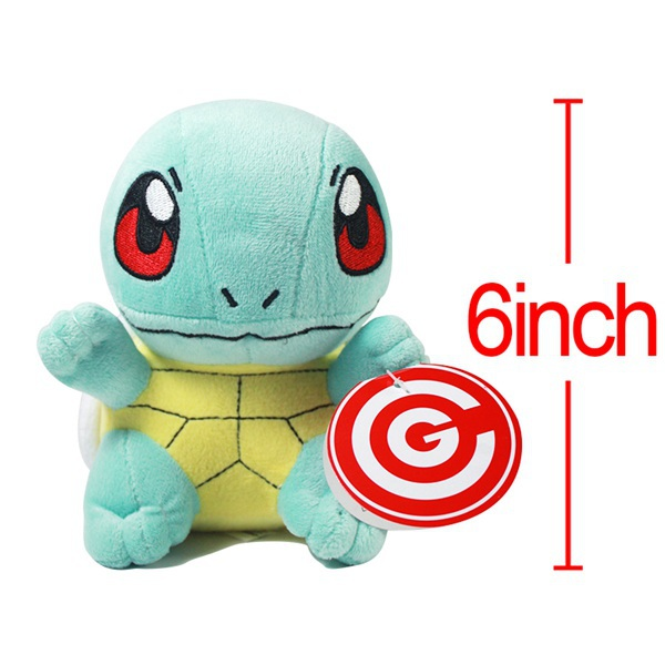 Popular animated cartoon Anime Pokemon Plush Squirtle 6 inches cute Animal Plush Doll Toy Soft Stuffed toy for children gift(China (Mainland))
