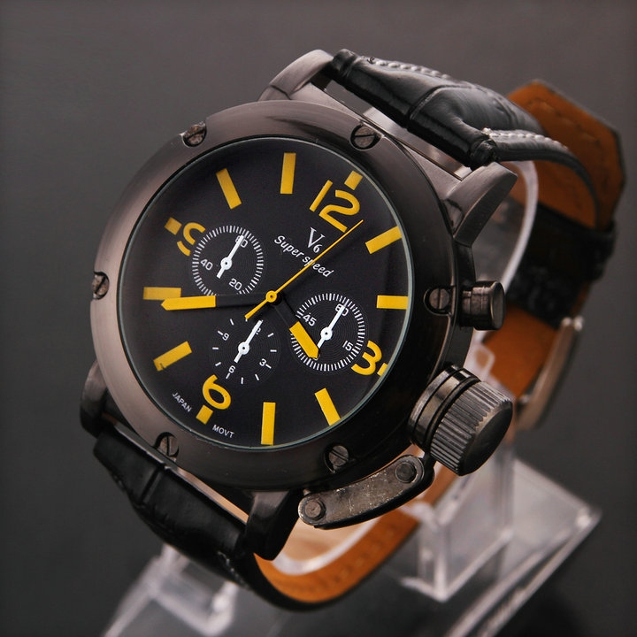 Здесь можно купить  Foreign Hot Vintage Stereo 45mm Dial V6 Sports Watch Men