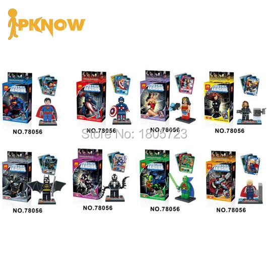 LELE 78056 DC Hero Super Man Poison/Batman/Thors 8Pcs Minifigure Model Decool Building Block Toys Compatible With Lego PKNOW(China (Mainland))