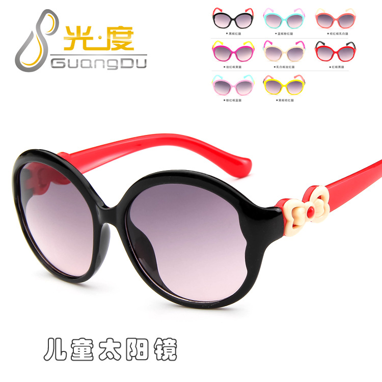 new Korean version of children big box sunglasses yurt bow child cute girl glasses models a variety of colors eyeglass frame(China (Mainland))