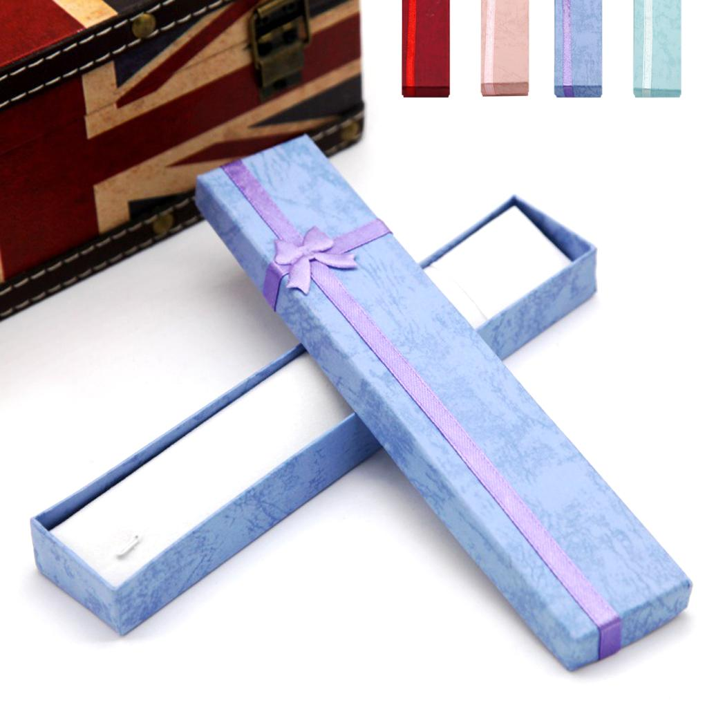 Hot selling 1pc Cardboard Flannelette long necklace box jewelry wedding gifts box support wholesales(China (Mainland))