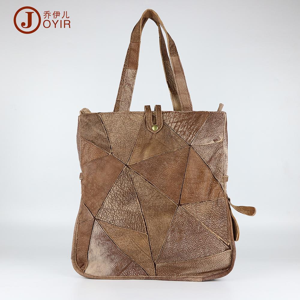 Brand Vintage Trendy Casual 100% Real Genuine Leather Cowhide Women Tote Handbag Handbags Shoulder Messenger Bag Bags For Ladies