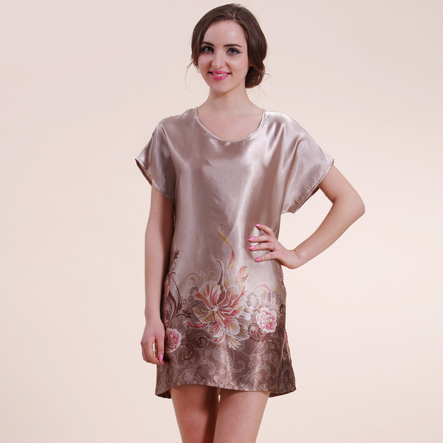 Имитация атласа одежды для ризы пижамы искусственного шелка Pijama свободного покроя ...