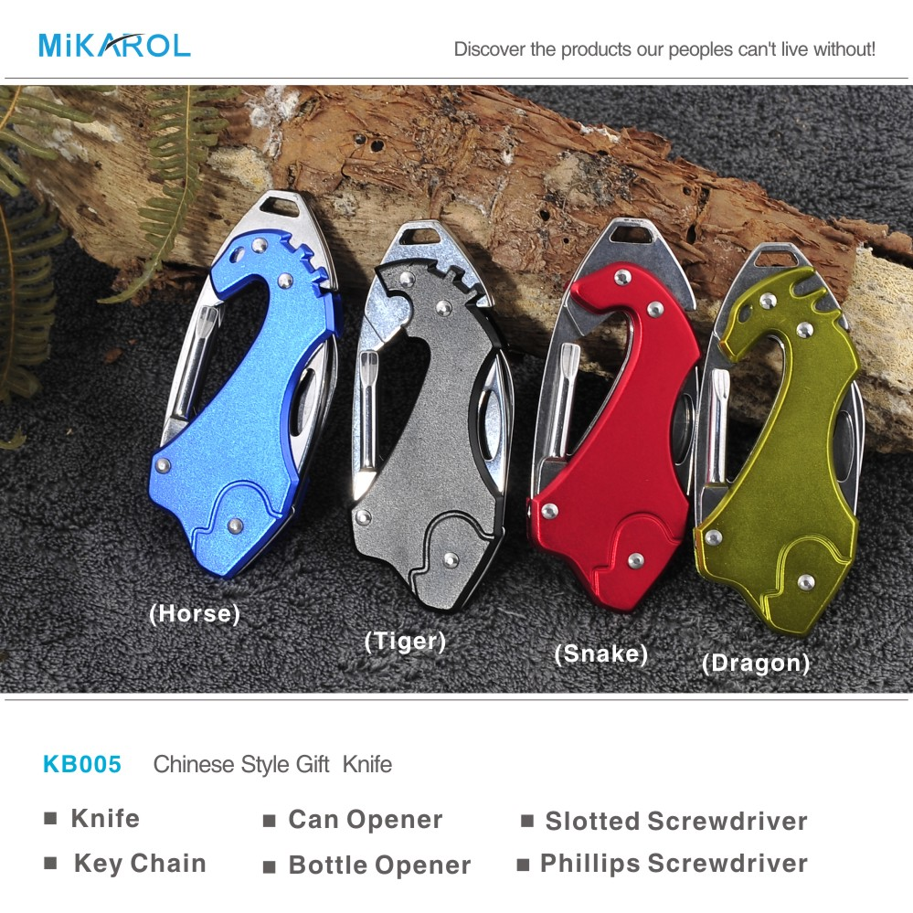 Lowest Price Multi Tool Folding Knife Stainless Steel Outdoor Camping Survival Knife, 4 in 1 Promotion Gift Knife with Keychain(China (Mainland))