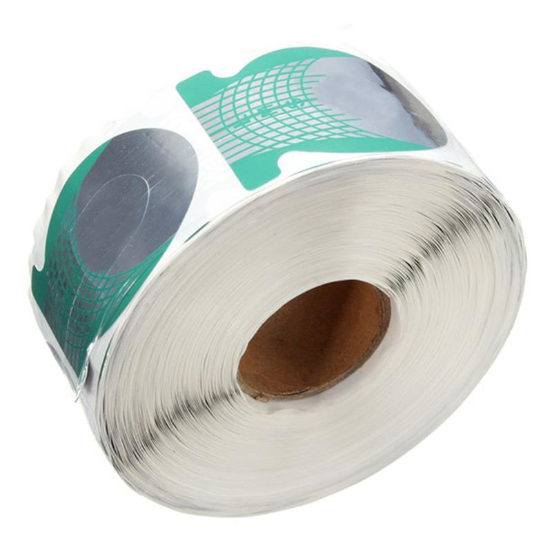 っ pcs roll nails extension form ⑧ green horseshoe