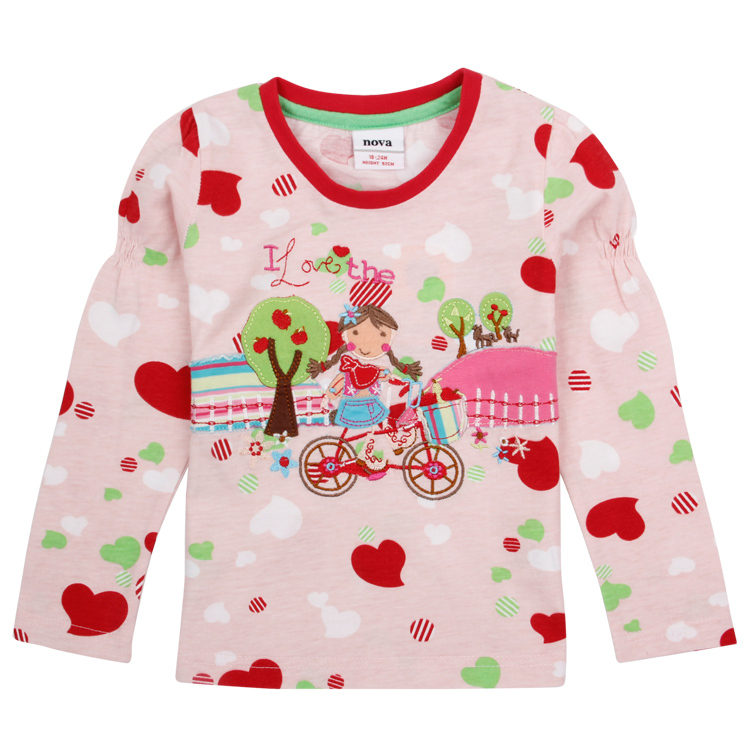 Гаджет  children girl t shirt baby girl clothes nova brand print girls t shirt kids embroidery long sleeves cotton girls casual t shirts None Детские товары