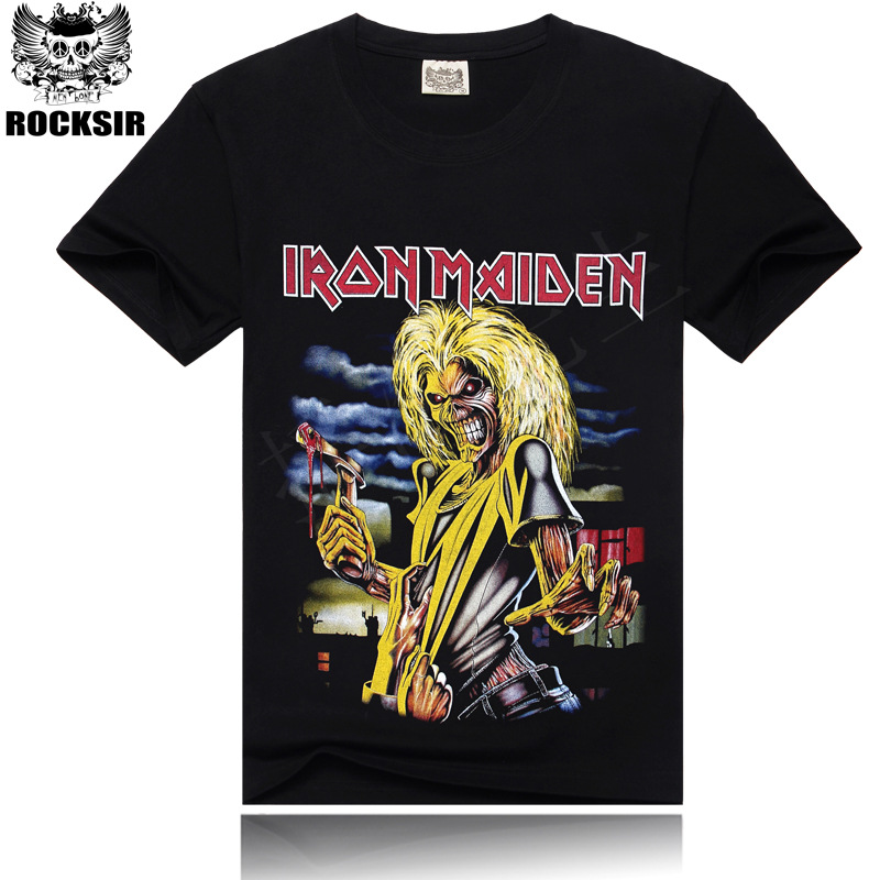 Iron Maiden Brand 3D t shirt New Style 2016 Heavy Metal Streetwear Men's T-shirts 100% Cotton Casual Short Sleeve TOP Tees(China (Mainland))