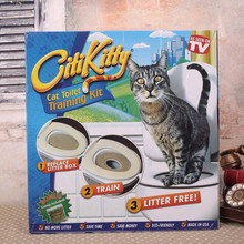 Cilikitty pet supplies cat mat Plastic Easy to Learn Cat Toilet Training Kit for pet Training and Behaviour Aids drop(China (Mainland))