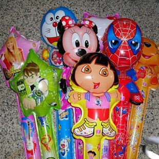 Bargain Price! Free Shipping(100pieces/lot) Clapper Sticks Balloon with Normal Air 100% Top Mylar Material