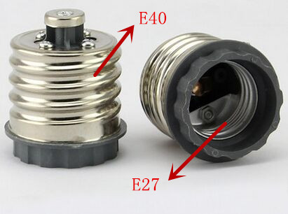 E40 to E27 Base LED Halogen Light Base Lamp Bulbs Socket Adapter Converter free shipping(China (Mainland))