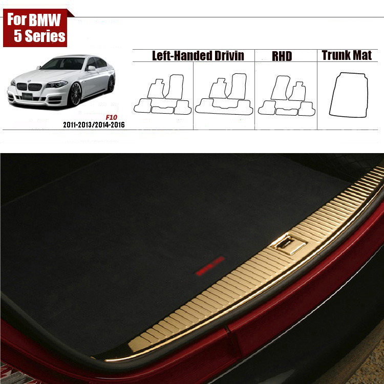 Nylon Fabric Washable Car Trunk Cargo Liner Carpet Mats For BMW 5Series F10 2011-2013/2014-2016(China (Mainland))