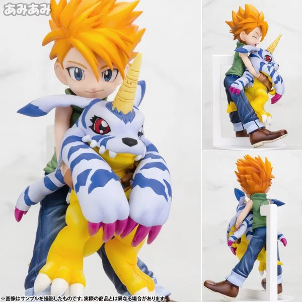 11cm Digital Monster Digimons Puppets Japanese Animation Doll Gabumon Model PVC Q Edition with box Action & Toy Figures GH129(China (Mainland))