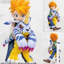 11cm Digital Monster Digimons Puppets Japanese Animation Doll Gabumon Model PVC Q Edition with box Action & Toy Figures GH129