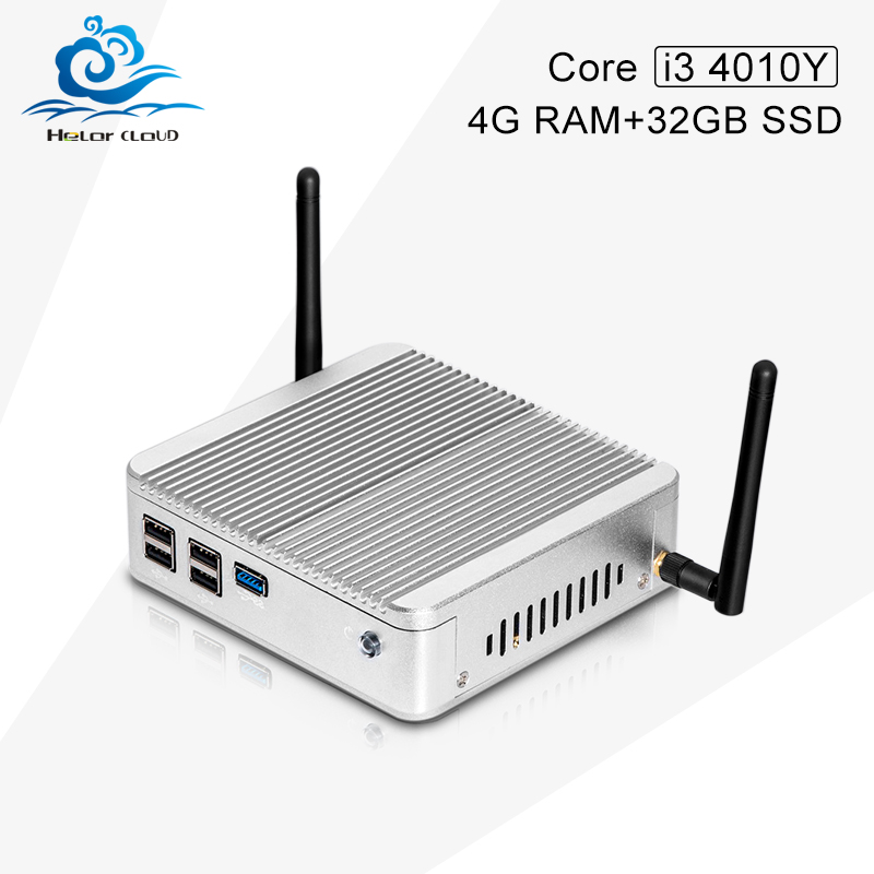 Здесь можно купить  Fanless Small System X30-4010Y HD 4000 1.7G HZ Mini PC Windows 7 Vensmile W10 mini cpu 4G RAM 32G SSD With VGA/HDMI  Компьютер & сеть