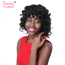 Buy BEAUTY LUEEN Brazilian Remy Hair Bundles Bouncy Curly Weave Human Hair Summer Short Hair Style Natural Color Can Dyed Wavy for $20.32 in AliExpress store