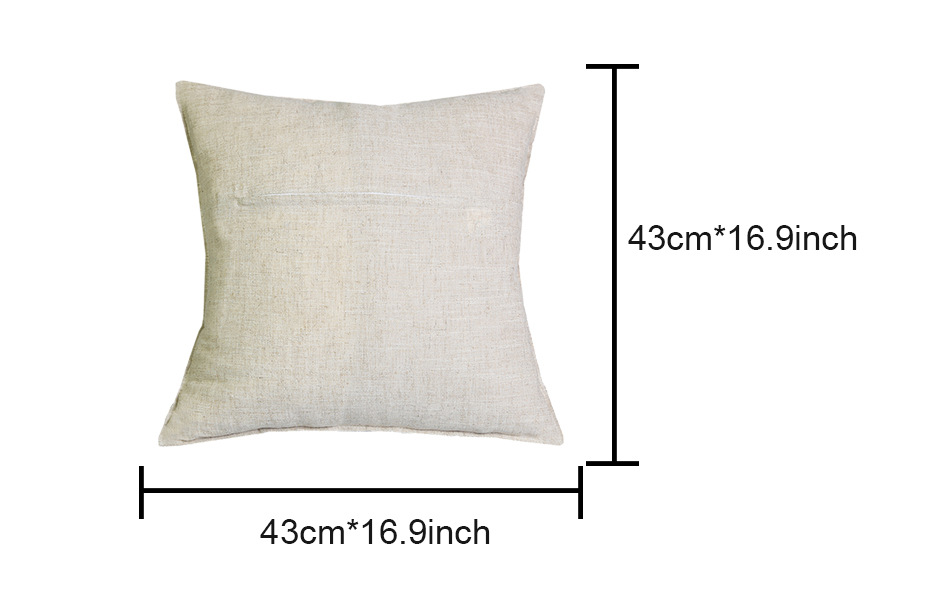 Cushion Cover 43X43cm Ode to Joy Music Sheet Pillow Cases New Year Festival Gift Bedroom Sofa Linen Christmas Decoration