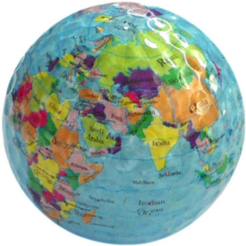 Globe Map Color Golf Balls Practice Golf Balls Golf Simulation Ball Free Shipping(China (Mainland))
