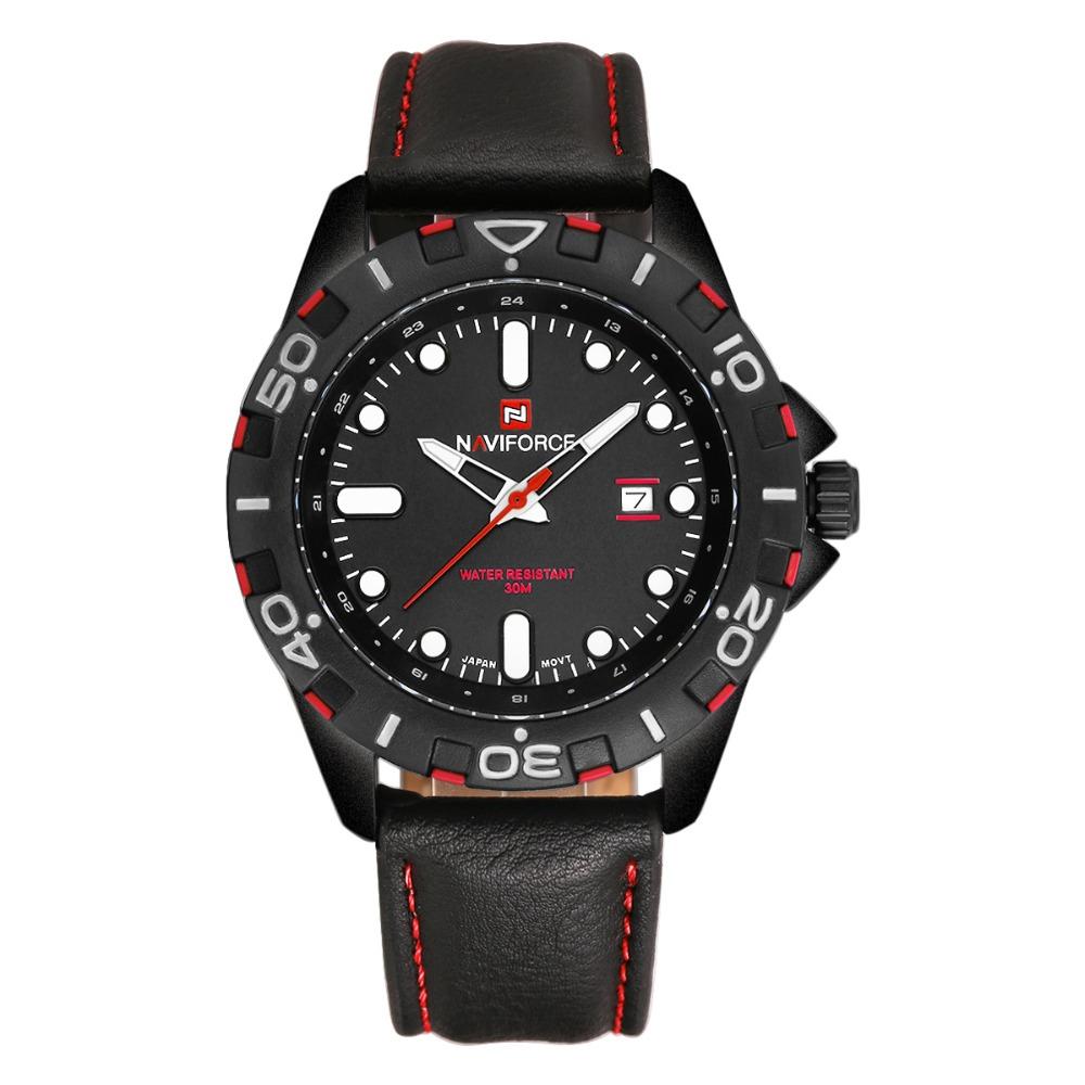 Men Brand NAVIFORCE Military Watch Leather Casual Quartz Watch reloj hombre 2015 Sport wristwatch relogio masculino