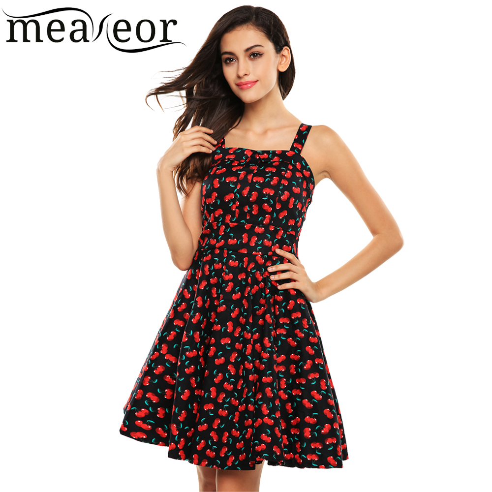 Meaneor Brand 2015 New Women Summer Dress Fashion Style Sleeveless Casual Mini Floral Print Pleated Dress(China (Mainland))