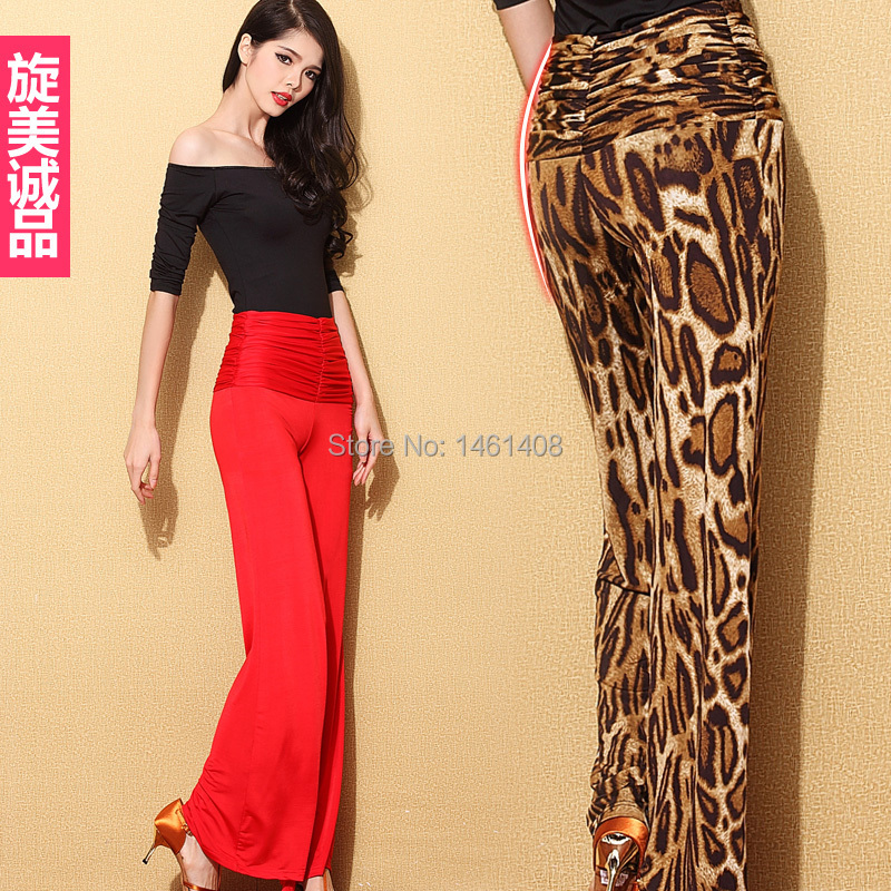 Black And Red Dance Pants Hypertensiveperson Pants Female Trousers Square Dance Ballroom Dancing ...