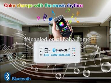 Free shipping Led buletooch rgb controller/bluetooch rgb led controller for smart phone(China (Mainland))