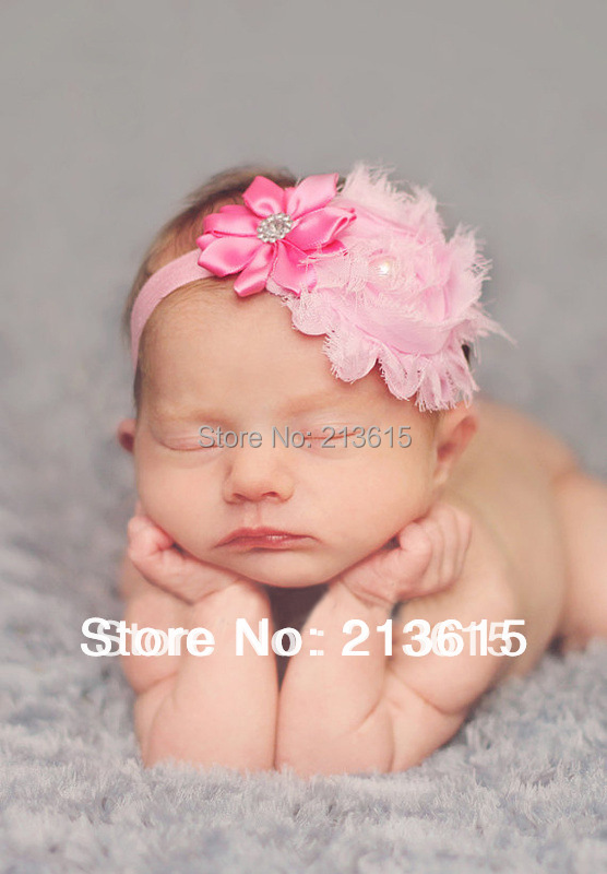 Free shipping Retail Infant satin flower headband Babies girls hairband Toddler Baby girl's Felt Flower headbands A5(China (Mainland))