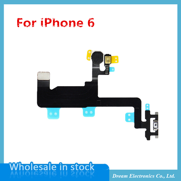 20pcs/lot NEW Power Button Switch On/Off Flex Cable Ribbon Replacement Part for iPhone 6 6g 4.7 inch,free shipping+track code