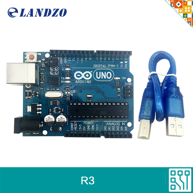 free shipping arduino UNO R3 for arduino mega328p ATMEGA16U2 with USB Cable arduino starter kits