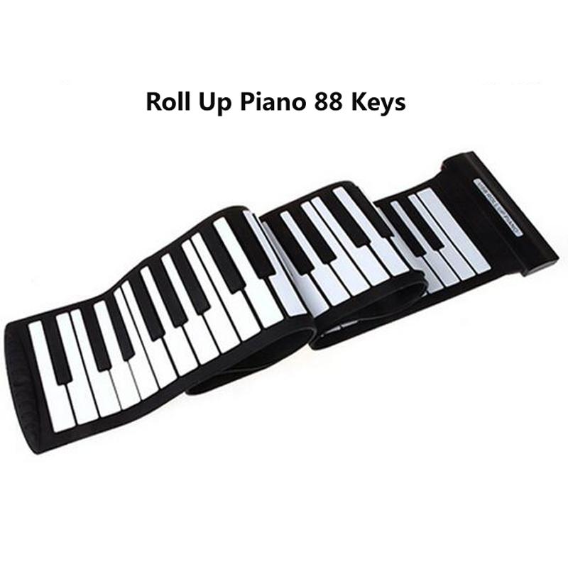 USB 88 Keys MIDI Roll up Electronic Piano Keyboard Silicone Flexible Professional Musical Instruments(China (Mainland))