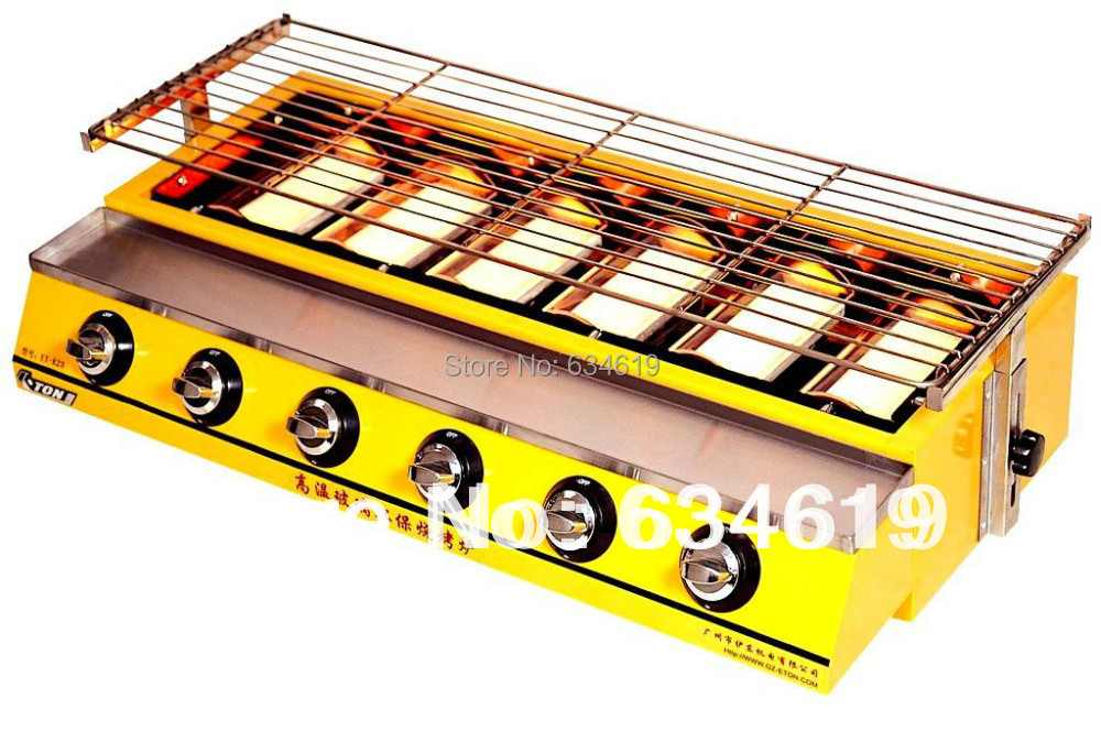 Supplies wholesale large size gas stove, barbecue gas grill, bbq baking equipment smokeless(China (Mainland))