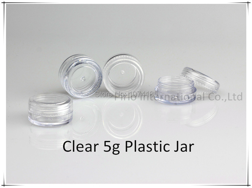 100pcs 5g gram plastic Jar With Lid Cosmetic jars Empty Cosmetic Containers Sample Containers Cream Jars Cosmetic Packaging(China (Mainland))