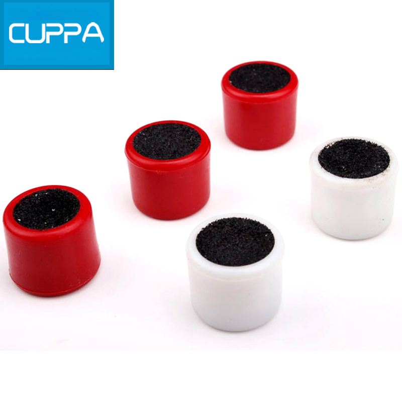 New 5 Pcs/Lot Cuppa Snooker Pool Cue Tip Table Tool Billiard Accessories Portable Cue Tip Two Colors China(China (Mainland))