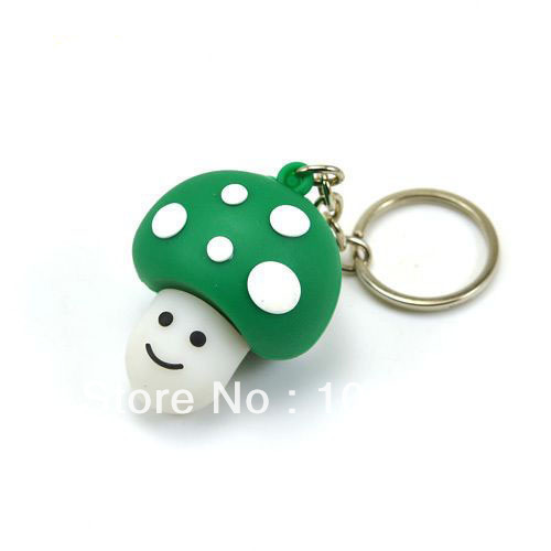 Fast ship 4gb 8gb 16gb 32gb green lovely mushroom keychain USB 2.0 flash drive memory pen disk
