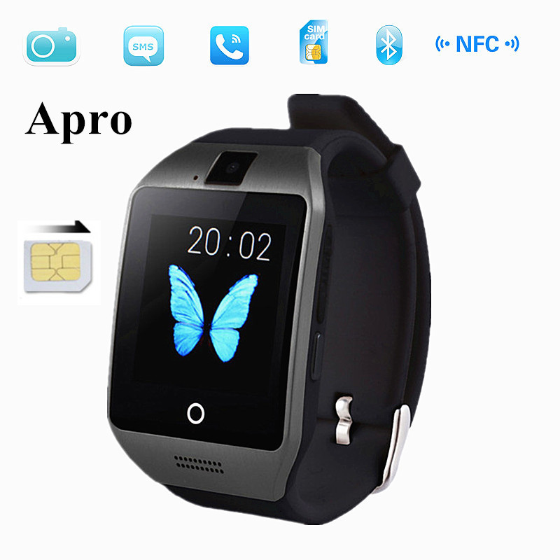 Bluetooth Smart Watch Apro Waterproof Smartwatch Support NFC SIM Card with Camera For Iphone Samsung Android Phone free shipping(China (Mainland))