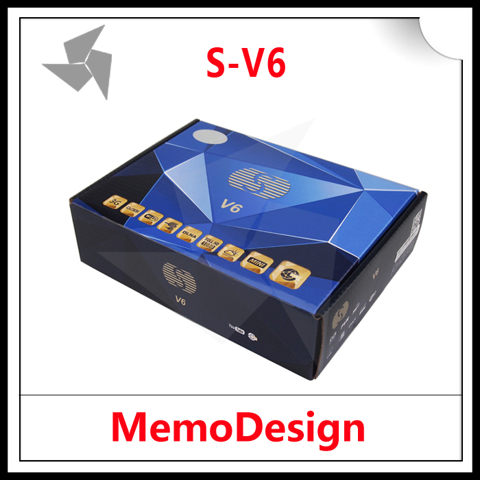 5pcs SKYBOX V6 / S-V6 HD Satellite TV Receiver Support Card Sharing CCcam NEWcam MGcam Biss Key DVB-S2 Receiver USB WiFi WebTV(China (Mainland))