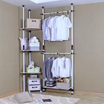 Corner combination of simple wardrobe steelframe wardrobe furniture fashion hangers