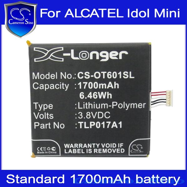 Cameron Sino Cell Phone Battery ALCATEL One Touch Idol Mini,Daul,OT-6012W,OT-6012X,OT-6012A ,OT-6012E,OT-6012D,S530T