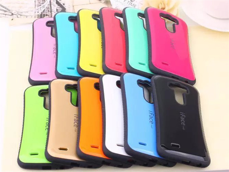 Candy Color iface For LG G3 phone Case Side Anti Skid Shock Absorbing Diy Coque Funda For Capa Para LG G3 Protective Covers(China (Mainland))