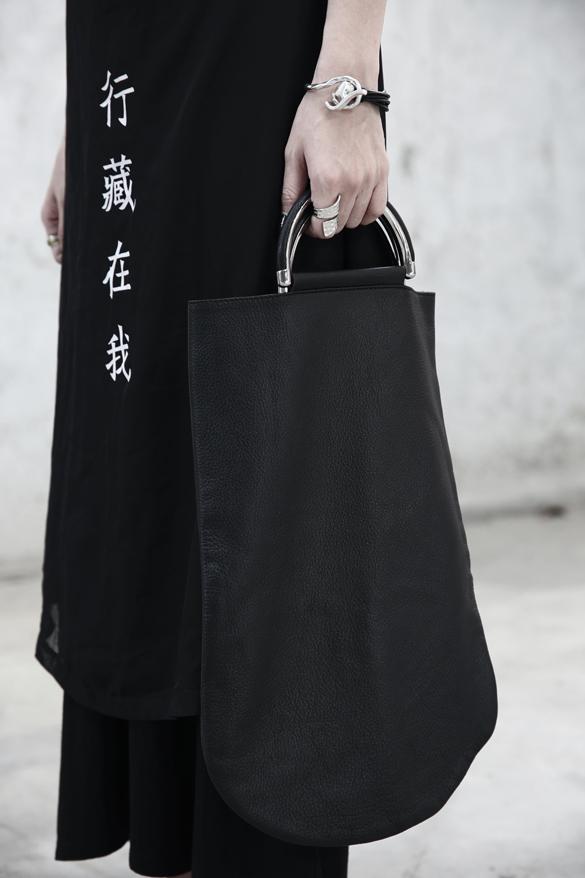 NEW 2015 exclusive original custom Diablo series * Yoh ji Yamam*to minimalist geometric special-shaped embossed leather handbag<br><br>Aliexpress