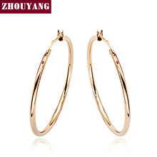 Top Quality ZYE093 Hoop Earrings 18K Rose Gold Plated Earring Top Quality  Factory Price  Wholesale(China (Mainland))