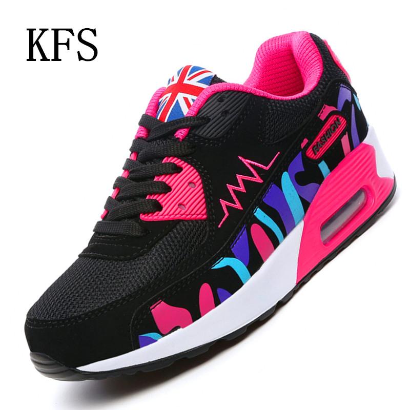 KFS New 2016 Fashion Flats Women Trainers Breathable Sport Woman Mesh font b Shoes b font