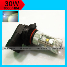 Buy 2X 30W High power super bright car light 9006 HB4 socket LED fog lamps 9006 DC 12V xenon white 9006 led color s't'y'k for $15.19 in AliExpress store