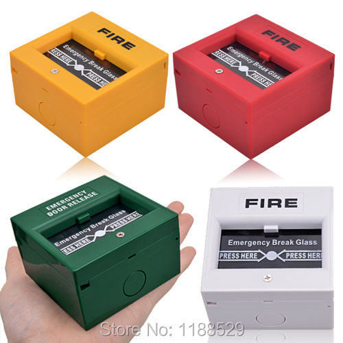 10pieces Per Lot Emergency Door Release Glass Break Alarm Button Fire alarm swtich(China (Mainland))