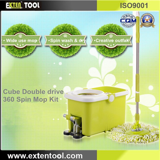 2015 New Products Cube 360 Spin Mop And Bucket(China (Mainland))