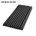 NEWACALOX Gun Adhesive DIY Tools Alloy Accessories Repair 20 pcs lot 150mm Black Hot Melt Glue